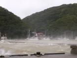 台風16号 サンバ 対馬西110km通過しました