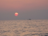 若狭湾の日没