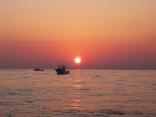 1月29日 東の空の日の出 サワラ・ブリ 釣りトローリング