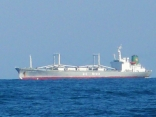 外国船が 近くを通ります