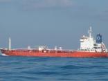 外国船が近くを 通過します 釜山行き