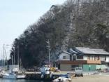 第八博潮丸と雪化粧 停泊地