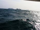 6月8日今日の海の様子 外国船はいつもの込み合い