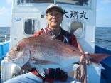超特大サイズ90cmの真鯛・東員町、森さん (2013-09-20)