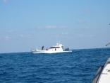 サンライズさん(新海) 本船のそばで ジギング始めました 佐賀県唐津港から出船
