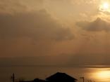 別府湾の夕焼け