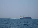 高速艇は比田勝港へ コンテナ船は釜山行き