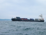 近くを外国船通過中