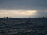 今日もイカ釣り船がたくさん帰港へ