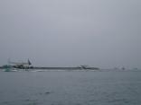 イカ釣り船の帰港中 上対馬沖 国境のポイントでイカが釣れています。