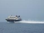 高速艇 釜山港へ