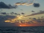 品木島 一重だしポイント付近からの 日の出