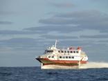 釜山港行きの高速艇
