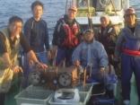 7月18日、夜焚きケンサキイカ釣り