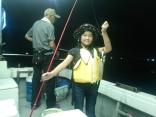 子供も白イカ釣り