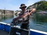 釣果5月6日午前便 魔鯛89cm1枚ほか5枚、 ヒラマサ65cm1本