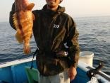 釣果5月27日午前便 キジハタ45cm