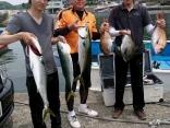 釣果5月16日午前便 ヒラマサ70センチ1本、65センチ2本、ワラサ60センチ5