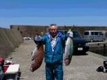 釣果5月11日午前便 マダイ80センチまで12枚、ヒラマサ75センチ1本、チダイ