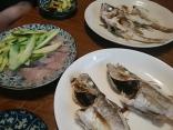 大目ハタの刺身と塩焼です。