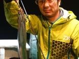 エギに珍客の太刀魚⁉