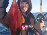 ソデイカ釣り初挑戦でしっかりとゲット‼