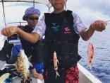 オススメ「五目釣りコース」大小様々な種類の魚が釣れますよ。