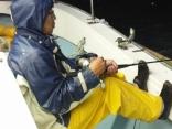 雨も降り 波も高くなり 風16m 帰港へ