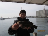 船釣り初挑戦で28.5センチゲット