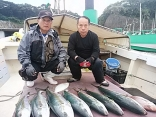 佐賀県 田中さん松島さん他2名の釣果はヒラマサ~8.5kgを7尾