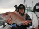53cmのマダイを釣り上げた青森の藤田さんです