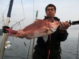 57cmを2枚釣り上げた岩手県紫波郡からお越しの四役さんです。