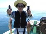 凪ぎの日に親子で釣り