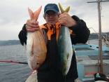 河崎さん初釣りにご満悦