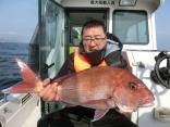 本日2枚目の58cmを釣り上げた釣り人です。