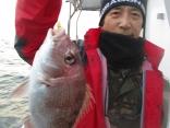 姫路市 高濱さん 良型真鯛40cm!!