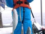 レンタルタックルにて船釣り初体験でイナダのダブル‼