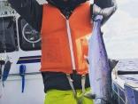 やった!マス釣り初体験!たのしー!