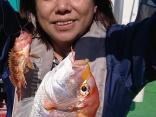 良型のレンコ鯛・ウッカリカサゴのダブルヒット