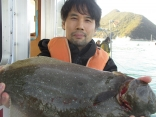 神戸市 藤平さん 良型ヒラメ60cm!!